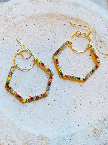 Wrapped Pentagon Earrings—ETS102