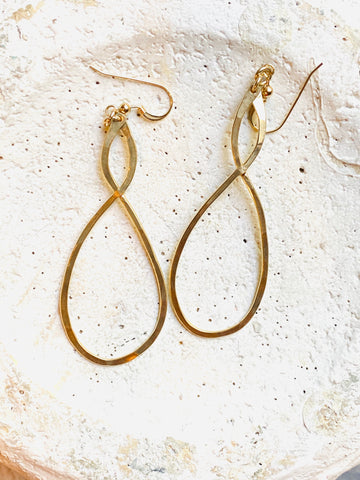 Gold Filled Infinity Earrings