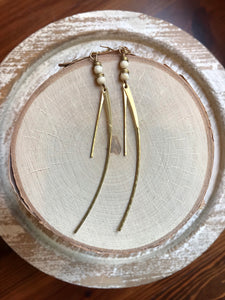 African Disk & Curved Bar Earrings