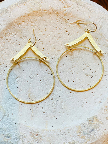 Tent Hoop Earrings