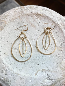Gold Filled Teardrop & Marquis Earrings
