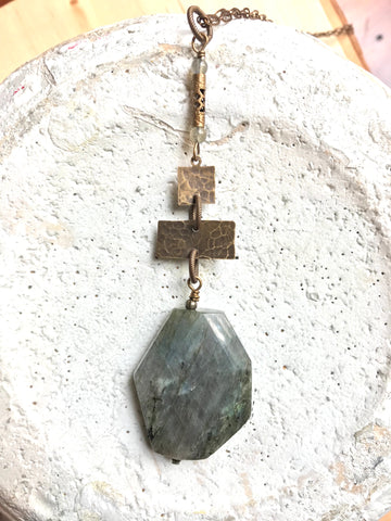 Labradorite Slab Necklace