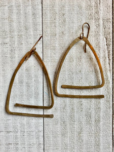 Funky Triangle Earrings