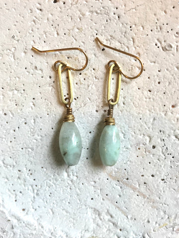 Oval Link & Barrel Earrings
