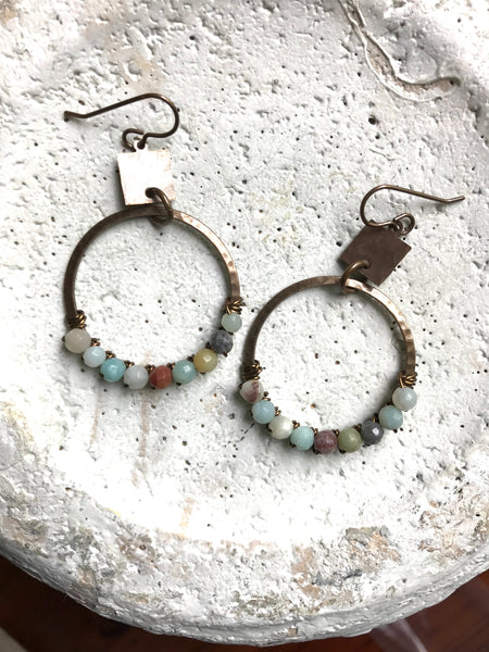 Square & Large Wrapped Hoop Earrings