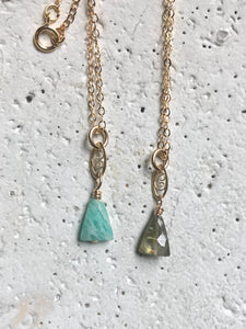 Fancy Swirl & Triangle Necklace