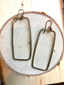 Large Rectangle Earrings (VJ884)
