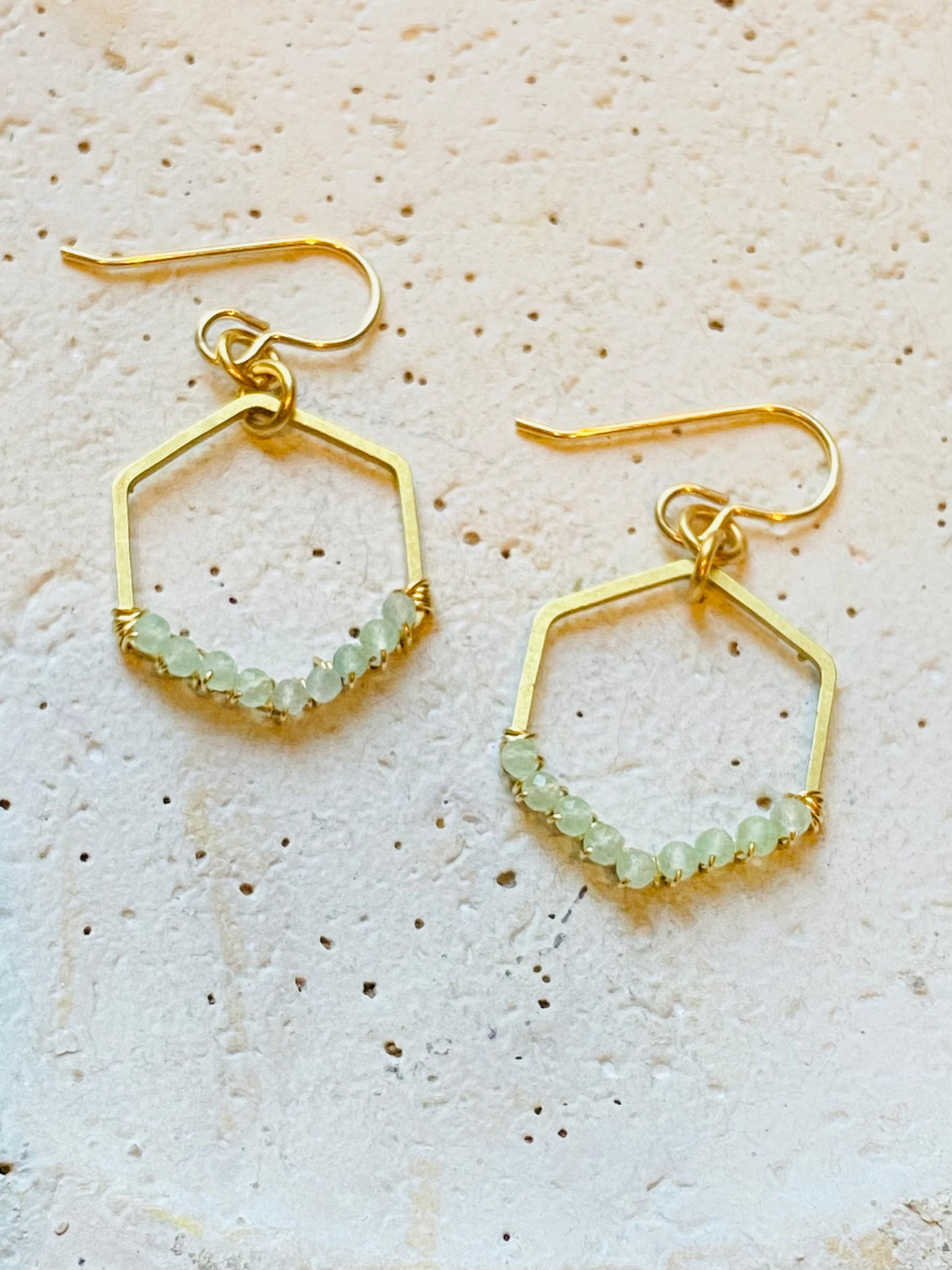 Small Wrapped Hexagon Earrings—ETS126