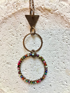 Triangle, Small Hoop & Multi Hoop Necklace