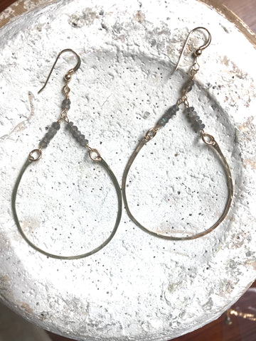 14k Rondelles & Horseshoe Earrings