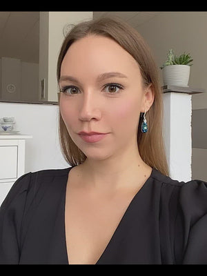 Load and play video in Gallery viewer, Naomi Earrings | Bermuda Blue