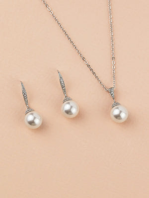Load image into Gallery viewer, Classic Pearl Jewelry Set