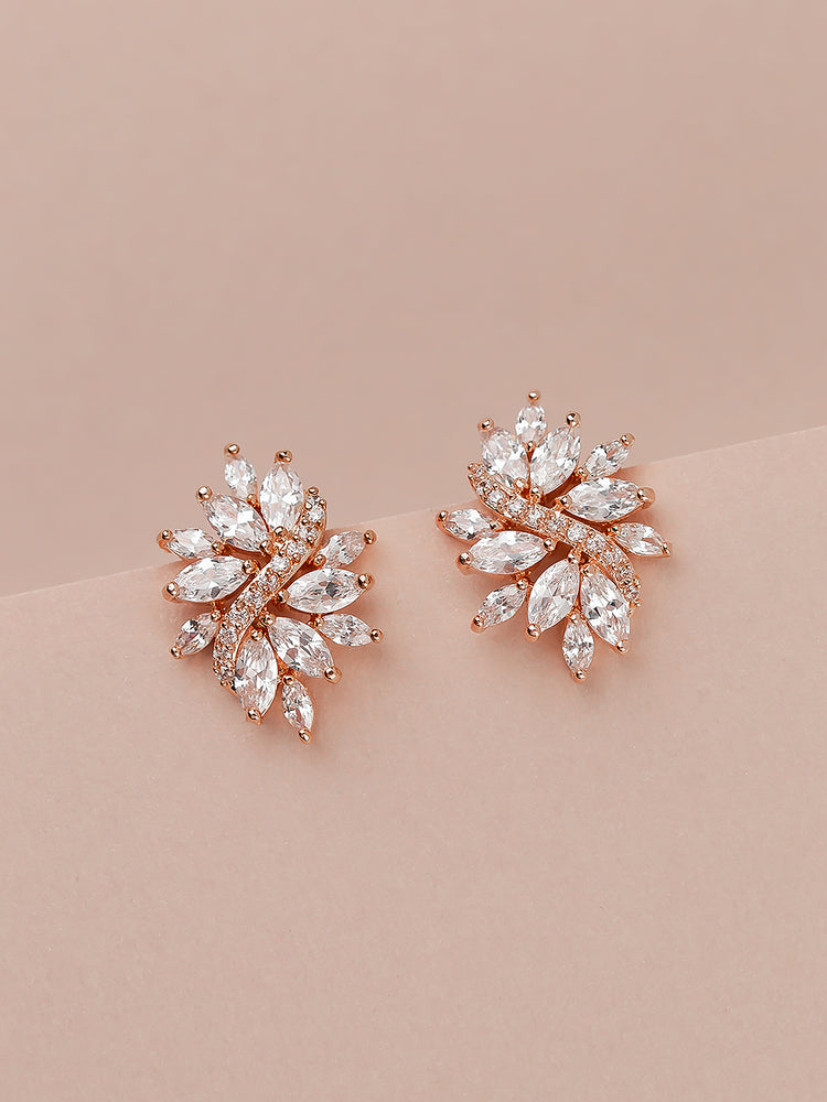 Load image into Gallery viewer, Demetria Rose Gold Earrings