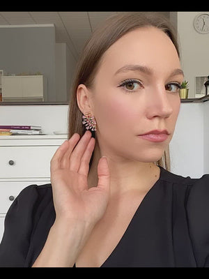 Load and play video in Gallery viewer, Clementine Earrings