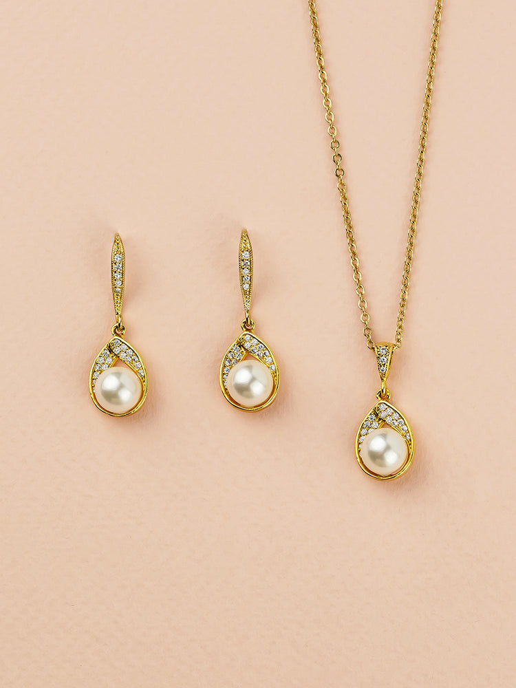 Astra Gold Jewelry Set | Short