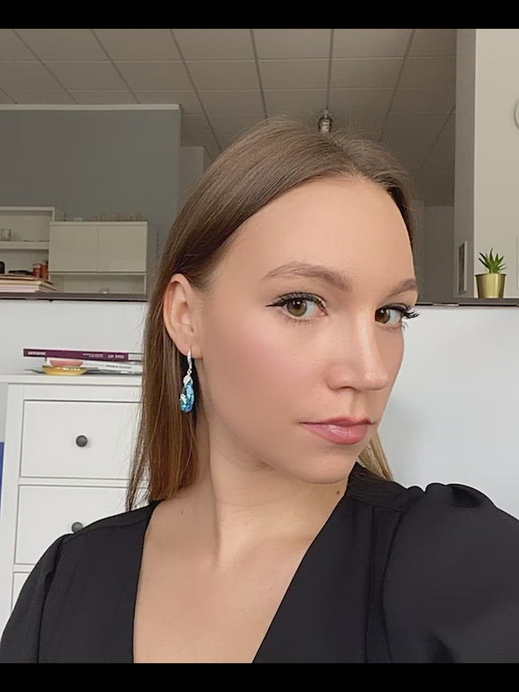 Load and play video in Gallery viewer, Naomi Earrings | Aquamarine AB