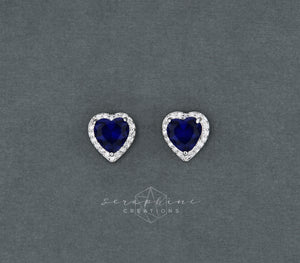 Blue Heart Earrings (Bridesmaid)