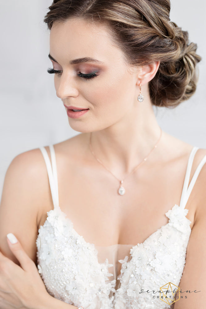 Victoria Rose Gold Jewelry Set (Bridesmaid)