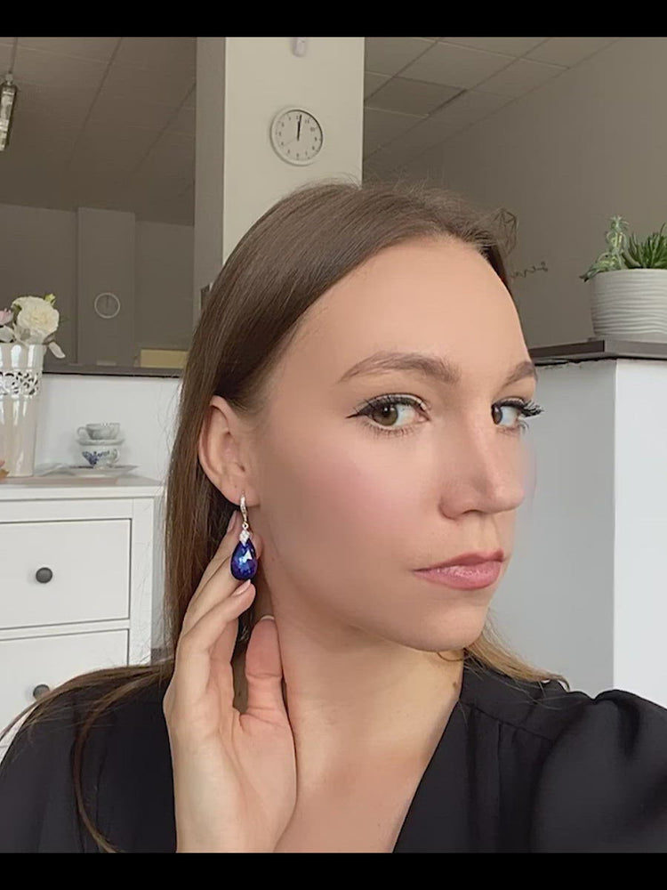 Load and play video in Gallery viewer, Naomi Earrings | Heliotrope