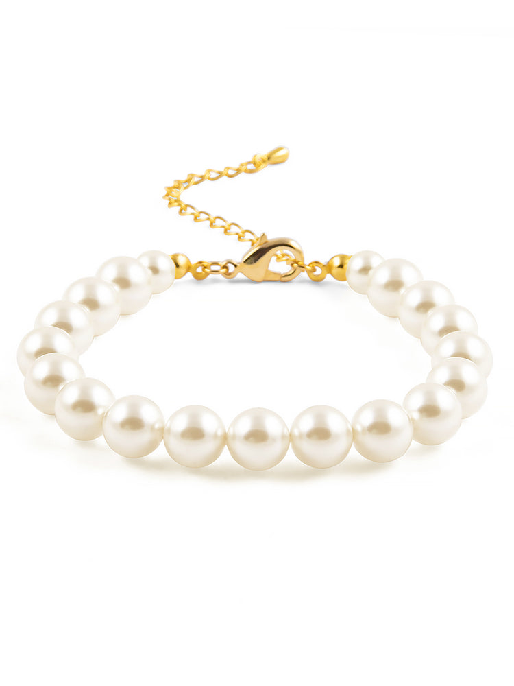 Load image into Gallery viewer, Classic Gold Pearl Bracelet