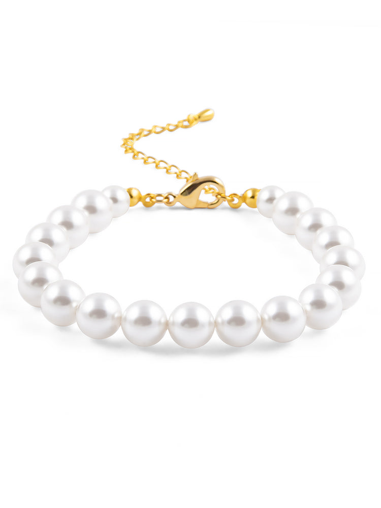 Classic Gold Pearl Bracelet