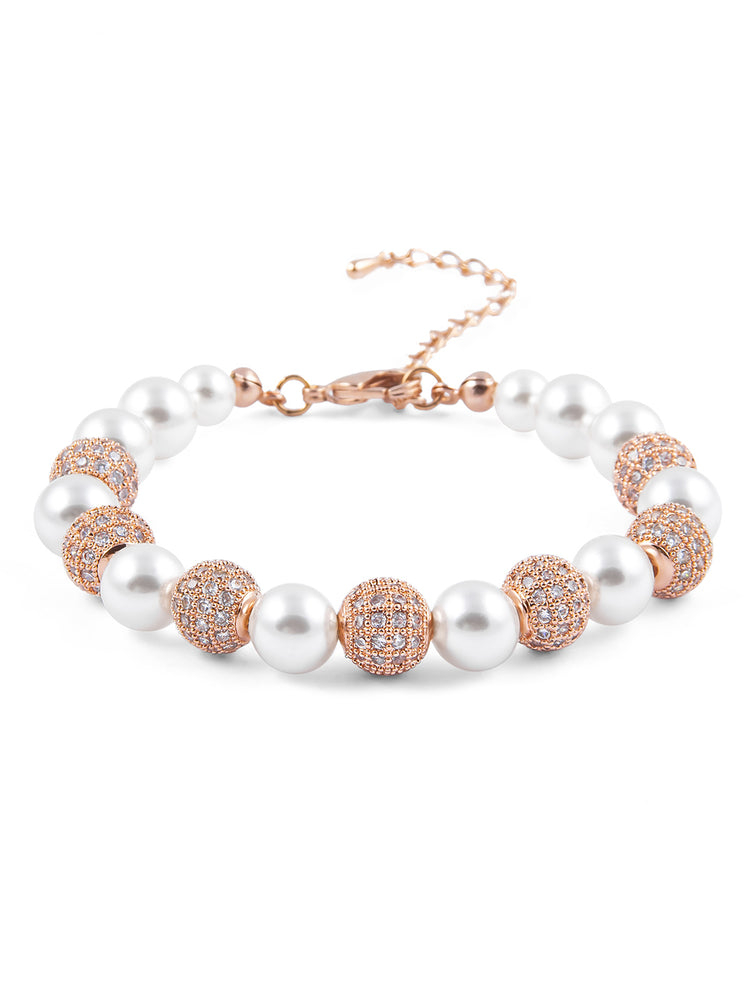 Load image into Gallery viewer, Selene Rose Gold Bracelet I