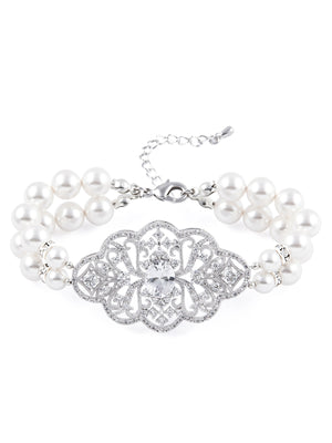 Load image into Gallery viewer, Adaline Pearl Bracelet