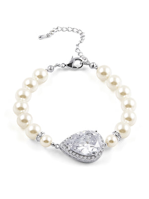 Load image into Gallery viewer, Vesta Pearl Bracelet