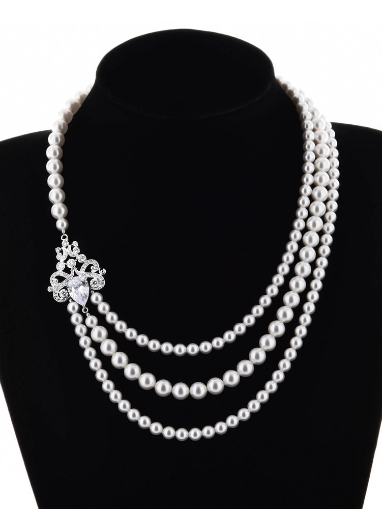 Isolde Pearl Triple Strand Necklace