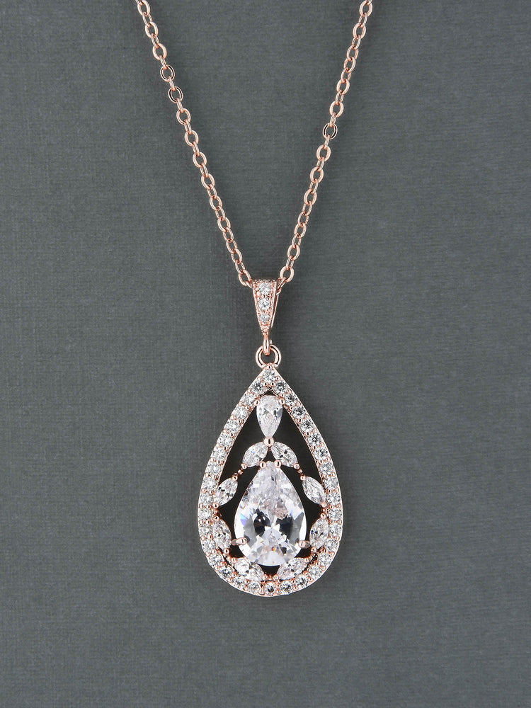 Load image into Gallery viewer, Valerie Rose Gold Pendant | Short
