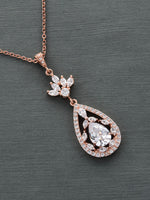 Valerie Rose Gold Pendant | Long