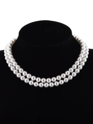 Load image into Gallery viewer, Classic Pearl Choker Necklace