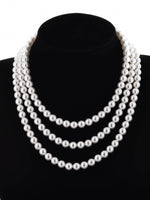 Classic Triple Strand Necklace