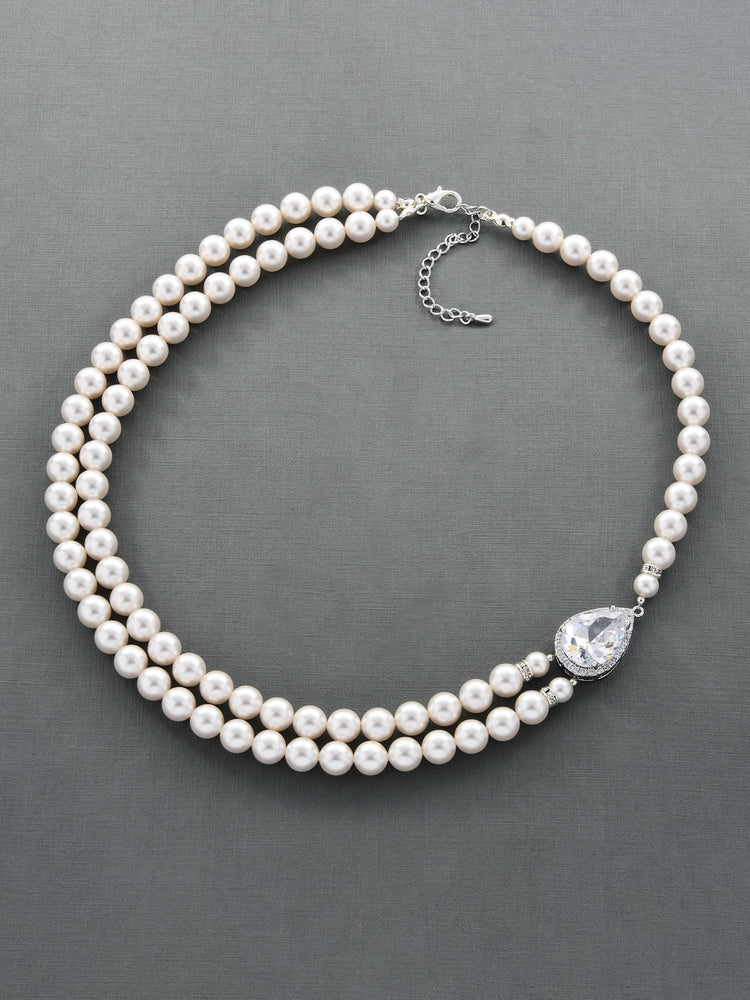Load image into Gallery viewer, Vesta Pearl Necklace