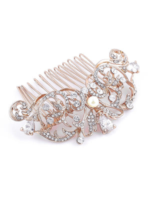 Grace Rose Gold Hair Comb
