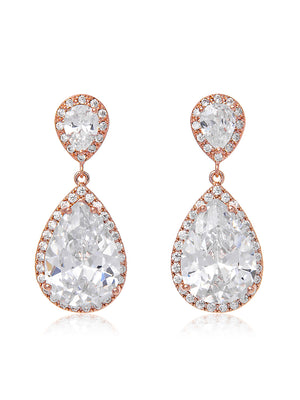 Load image into Gallery viewer, Vesta Classic Rose Gold Clip On Earrings | Short