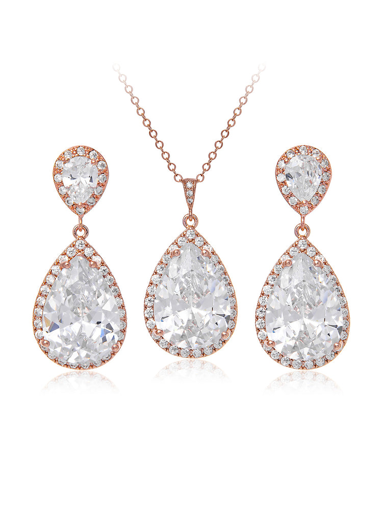 Vesta Classic Rose Gold Jewelry Set | Short