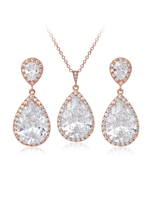 Load image into Gallery viewer, Vesta Classic Rose Gold Jewelry Set | Short