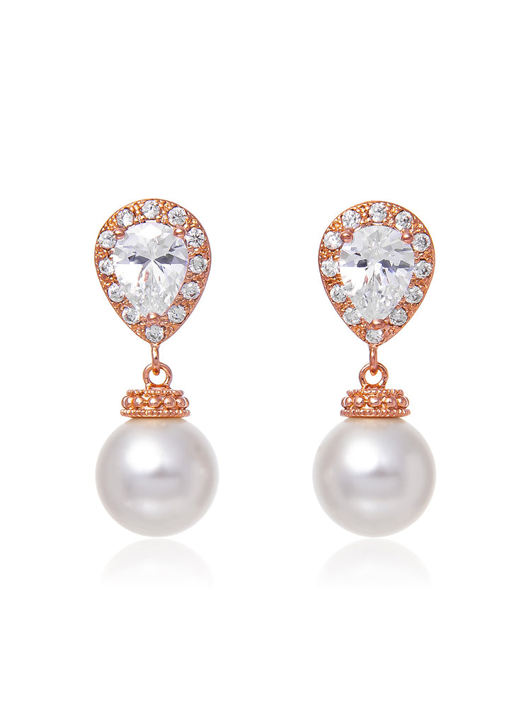 Electra Rose Gold Earrings