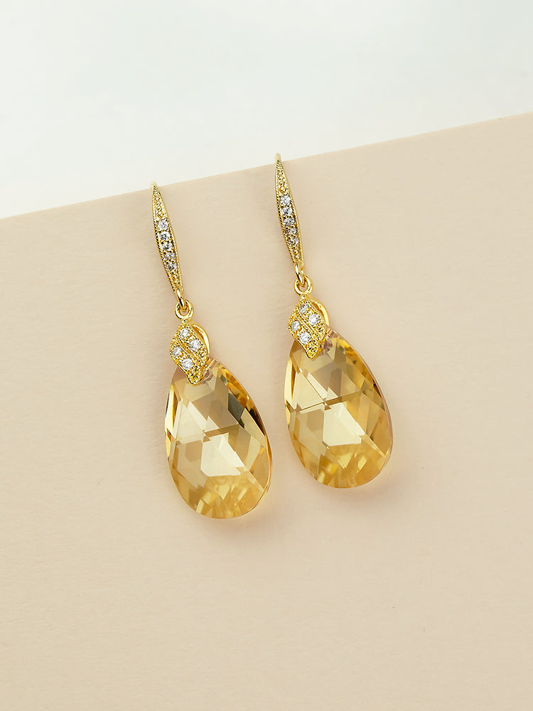 Load image into Gallery viewer, Naomi Earrings | Golden Shadow