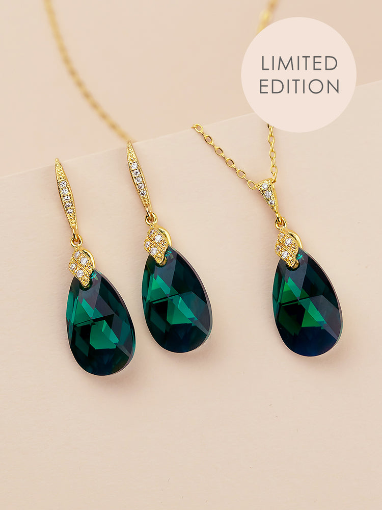 Naomi Jewelry Set | Emerald AB