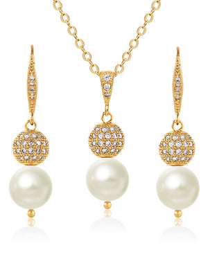 Load image into Gallery viewer, Selene Gold Jewelry Set