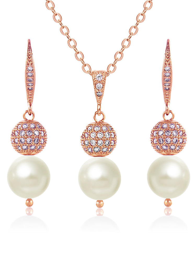Load image into Gallery viewer, Selene Rose Gold Jewelry Set