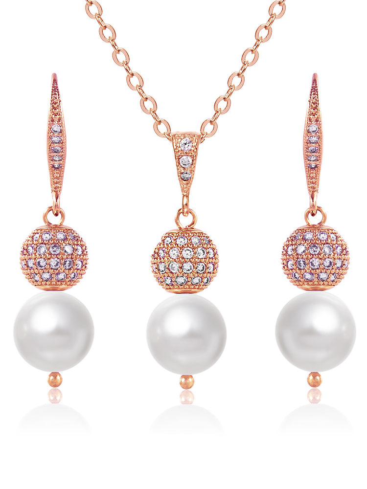 Selene Rose Gold Jewelry Set