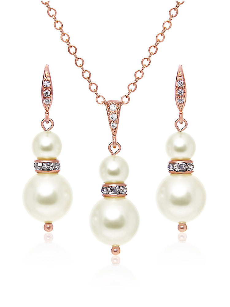 Load image into Gallery viewer, Laelia Rose Gold Jewelry Set