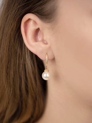 Load image into Gallery viewer, Classic Pearl Gold Jewelry Set