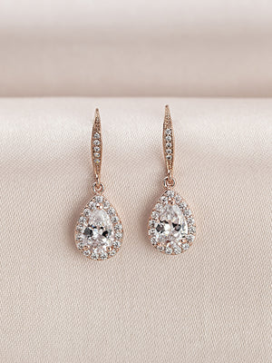 Load image into Gallery viewer, Victoria Rose Gold Earrings