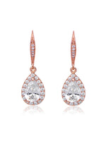 Delicate Rose Gold Cubic Zirconia Earrings