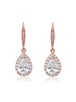 Victoria Rose Gold Earrings