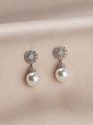 Sylvia Pearl Earrings